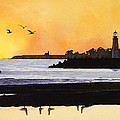 Winter Silhouette Santa Cruz by Kerry Van Stockum