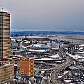 Winter Skyway Downtown Buffalo Ny by Michael Frank Jr
