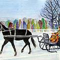 Winter Sleigh Ride by Carol Flagg