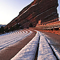 Winter Snow At Red Rocks Amphitheater by Mike Berenson