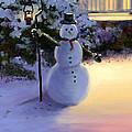 Winter Snow Man by Cecilia Brendel