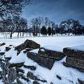 Winter Snow On Slave Wall by John Magyar Photography