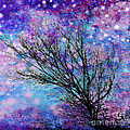 Winter Starry Night Square by Ann Powell