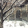 Winter Storm At The Cloisters 3 by Sarah Loft