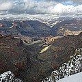 Winter Storm At The Grand Canyon by Steve  Ondrus