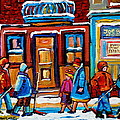 Winter Street In Saint Henri by Carole Spandau