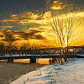 Winter Sunrise - Artistic by Chris Bordeleau