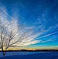 Winter Sunset At Diamond Lake by Jaime Aguirre