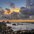 Winter Sunset At Patrick's Point by Greg Nyquist