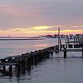 Winter Sunset Freeport by John Telfer