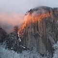 Winter Sunset On El Capitan by Christine Jepsen