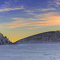 Winter Sunset Over Eagle Lakes by Chris Whiton