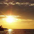 Winter Sunset Over Long Island by John Telfer