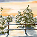 Winter Sunset by Veronica Minozzi