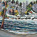 Winter Thaw Gatineau River by Patricia Eyre
