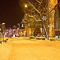 Winter Time Street Scene In Krizevci by Brch Photography