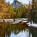Winter view of Half Dome in Yosemite National Park. by Jamie Pham