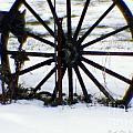 Winter Wagon Wheel by Ann Butler
