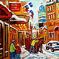 Winter Walk Montreal by Carole Spandau