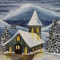 Winter Watercolor by Christine Huwer