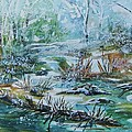 Winter Whispers On Catskill Creek by Ellen Levinson