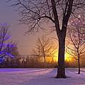 Winter Wonderland - Holiday Square - Casper Wyoming by Diane Mintle