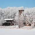 Winter Wonderland Farm Digital Painting by Robyn Saunders
