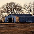 Winter's Cow Barn by Maria Urso