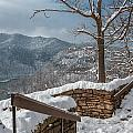 Wintertime At Hawks Nest  by Mary Almond