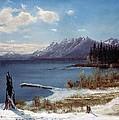 Wintertime Lake Tahoe In Winter The Sierra Nevada California by Albert Bierstadt