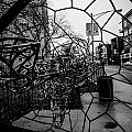 Wire Man In Sphere by Anthony Doudt