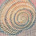 Wireframed Spiral by Richard Glen Smith