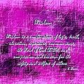 Wisdom Enhanced Violet by L Brown