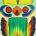 Wise Bird Totem by Phoenix The Moody Artist