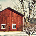 Wise Old Barn Winter Time by Joshua Zaring
