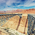 Wispy Clouds Over Navajo Bridge North Rim Grand Canyon Colorado River by Silvio Ligutti
