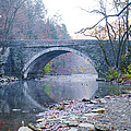 Wissahickon Creek And Valley Green Bridge by Bill Cannon