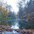 Wissahickon Creek - Fall In Philadelphia by Bill Cannon