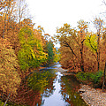 Wissahickon Creek Near Chestnut Hill College In Autumn by Bill Cannon