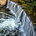 Wissahickon Dam At Ridge Avenue - Side View by Bill Cannon