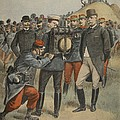 With The Army Manoeuvres The Duke by French School