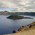 Wizard Island - Crater Lake Oregon by Christine Till
