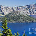 Wizard Island In Crater Lake by Ellen Thane