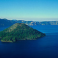 Wizard Island In Crater Lake, Oregon by Panoramic Images