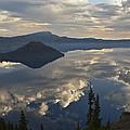 Wizard Island Reflection by Lee Kirchhevel