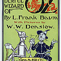 Wizard Of Oz Book Cover  1900 by Daniel Hagerman
