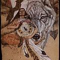 Wolf And Shaman  by Pamela Mccabe