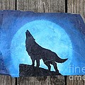 Wolf Howl2 by Monika Shepherdson