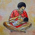 Woman And Child by Anthony Mwangi