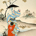 Woman And Child  by Ogata Gekko
